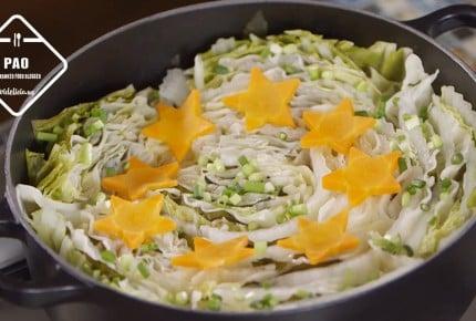 人気ブロガーぱおさんの「餃子の皮がもっちり☆白菜と豚肉の餃子ミルフィーユ鍋」