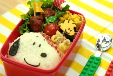 【動画レシピ】スヌーピーとウッドストックのお弁当