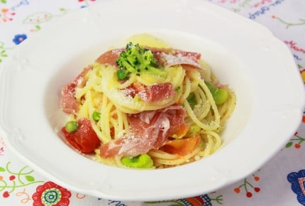 3ステップで簡単美味しい!春野菜のパスタ