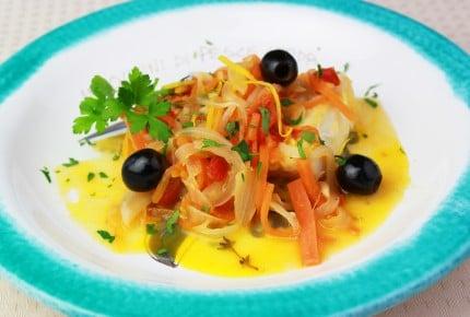 旬の魚で満足メインディッシュ!カジキマグロの地中海風煮込み