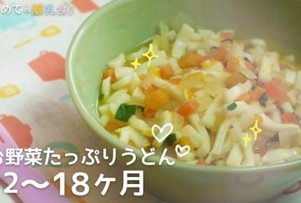 【動画で分かりやすい!離乳食】お野菜たっぷりうどん(12~18か月)の作り方