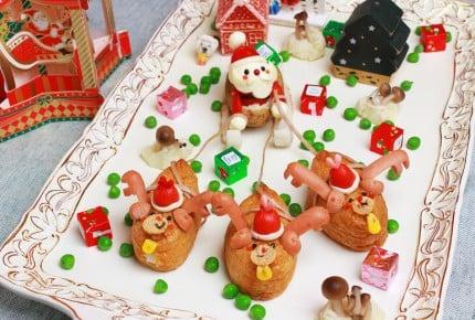 サンタとトナカイのクリスマスプレートが可愛すぎ!