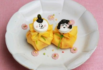 薄焼き卵で作れる!茶巾ひな寿司が可愛すぎ