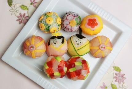 お洒落なひなまつりパーティーに♡可愛いひな手毬寿司!
