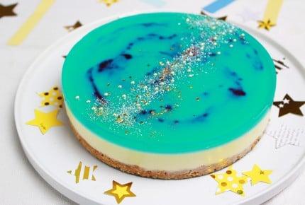 七夕に作ってあげたい!キラキラ天の川チーズケーキが素敵!